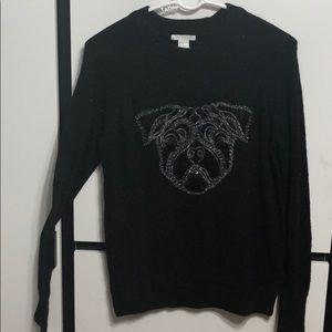 Black Pug Sweater